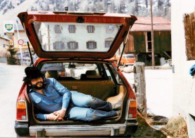 52. JC in car Tschierv red car